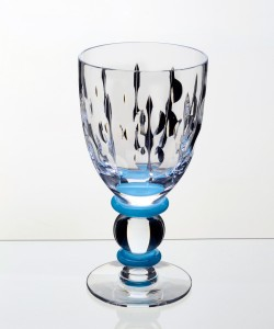 Goblet Blue Button Stem