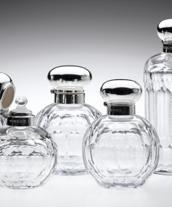 Silver Topped Annie Perfume Bottles